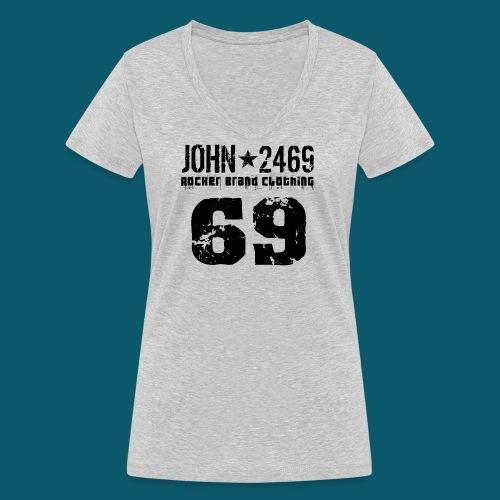 john 2469 numero trasp per spread nero PNG - T-shirt ecologica da donna con scollo a V di Stanley & Stella