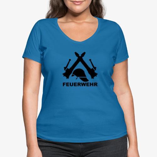 Feuerwehr C Rohr - Frauen Bio-T-Shirt mit V-Ausschnitt von Stanley & Stella