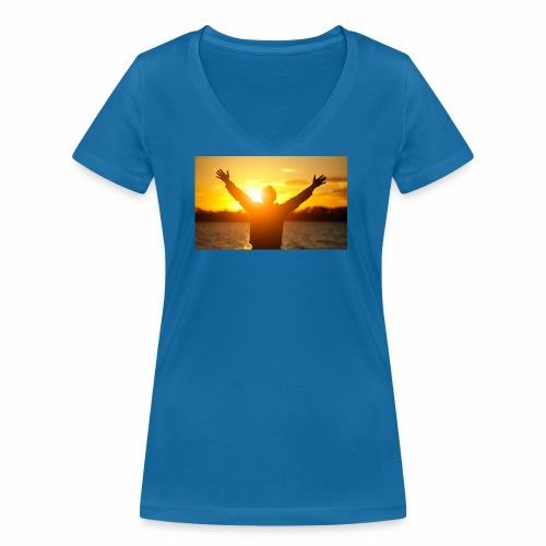 Camiseta Libre - Camiseta ecológica mujer con cuello de pico de Stanley & Stella