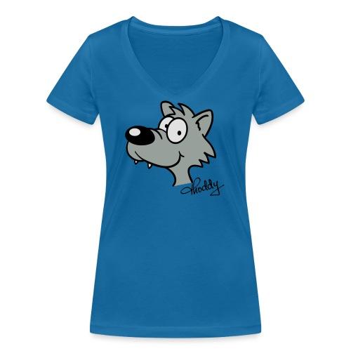 Wolf beflockbar - Frauen Bio-T-Shirt mit V-Ausschnitt von Stanley & Stella