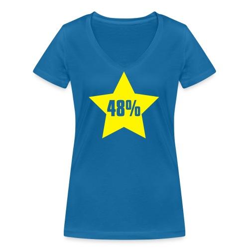 48% in Star - Women's Organic V-Neck T-Shirt by Stanley & Stella