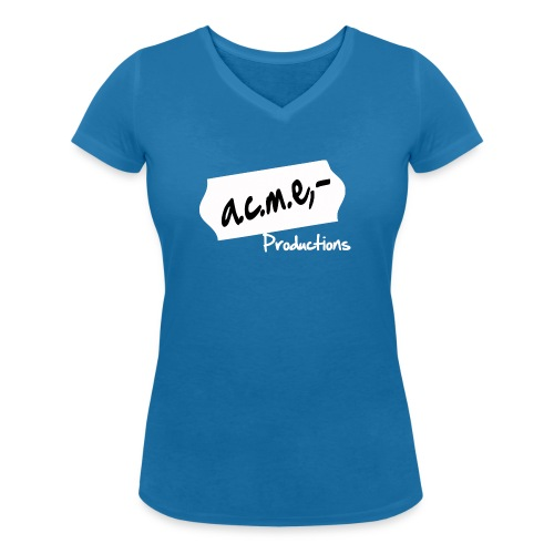 acmeproductionswhite - Frauen Bio-T-Shirt mit V-Ausschnitt von Stanley & Stella