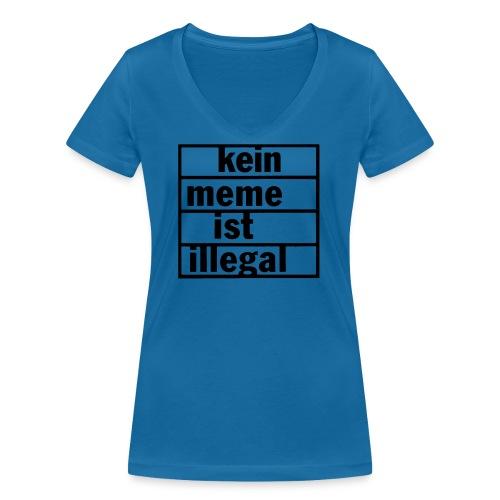 kein meme ist illegal - Frauen Bio-T-Shirt mit V-Ausschnitt von Stanley & Stella