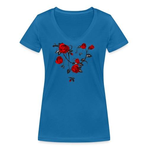 Rosenranken - Frauen Bio-T-Shirt mit V-Ausschnitt von Stanley & Stella