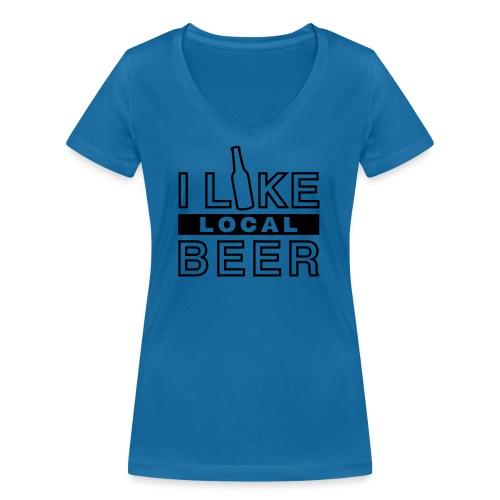 I Like Local Beer (swity) - Frauen Bio-T-Shirt mit V-Ausschnitt von Stanley & Stella
