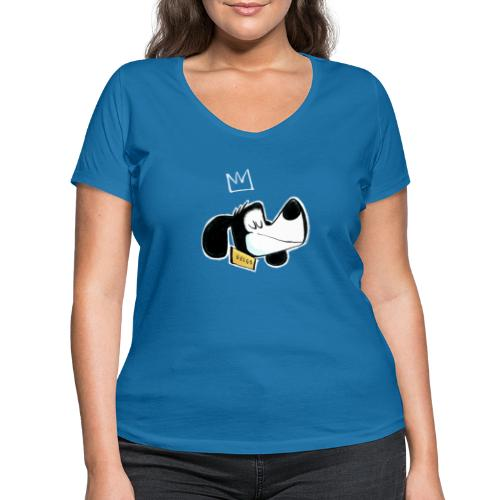 Kong Brego - Økologisk T-skjorte med V-hals for kvinner fra Stanley & Stella