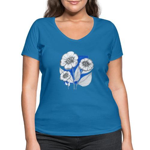 Fiori - T-shirt ecologica da donna con scollo a V di Stanley & Stella
