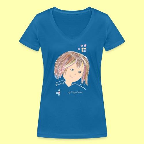 Pinni® Desing by Emmy Hanna - Frauen Bio-T-Shirt mit V-Ausschnitt von Stanley & Stella
