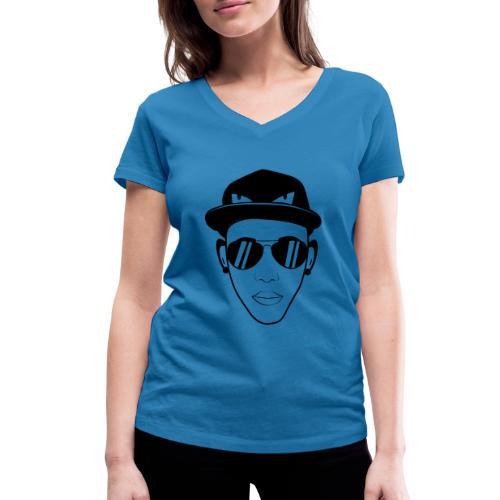 adhex cara - Camiseta ecológica mujer con cuello de pico de Stanley & Stella