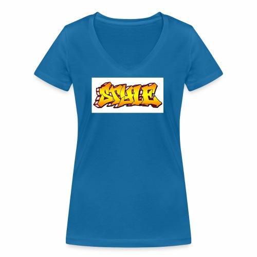 Camiseta estilo - Camiseta ecológica mujer con cuello de pico de Stanley & Stella