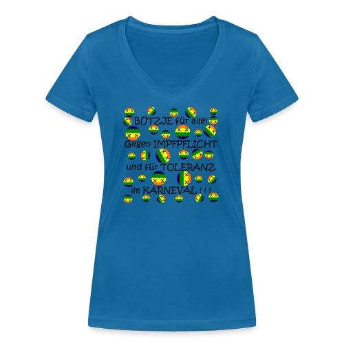 Toleranter Karneval 21.1 - Frauen Bio-T-Shirt mit V-Ausschnitt von Stanley & Stella