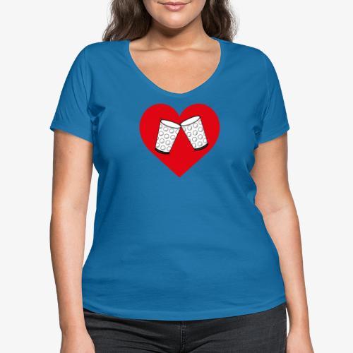 Schorle Liebe – Dubbegläser - Frauen Bio-T-Shirt mit V-Ausschnitt von Stanley & Stella