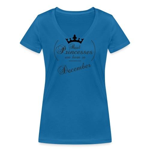 Real Princesses black December - Frauen Bio-T-Shirt mit V-Ausschnitt von Stanley & Stella