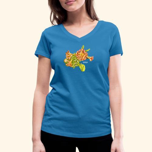 Trompetenbaum Blüten von S.A.R.A. - Frauen Bio-T-Shirt mit V-Ausschnitt von Stanley & Stella
