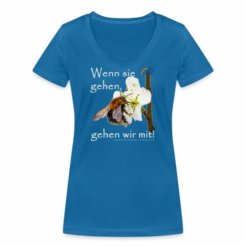Parteishirt Biene - Frauen Bio-T-Shirt mit V-Ausschnitt von Stanley & Stella
