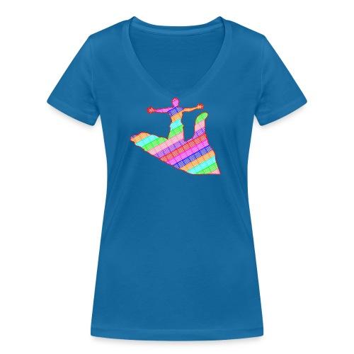 main - T-shirt bio col V Stanley & Stella Femme