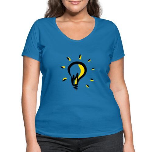 Geistesblitz - Frauen Bio-T-Shirt mit V-Ausschnitt von Stanley & Stella