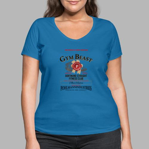 GYM BEAST - Frauen Bio-T-Shirt mit V-Ausschnitt von Stanley & Stella