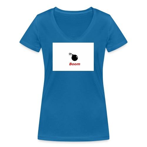 Bomba - Ekologiczna koszulka damska z dekoltem w serek Stanley & Stella