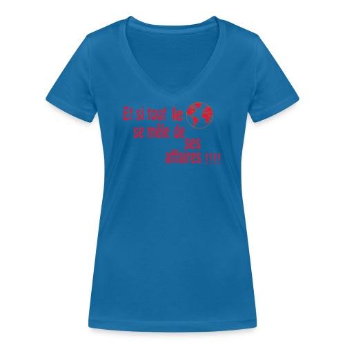 BNT création - T-shirt bio col V Stanley & Stella Femme