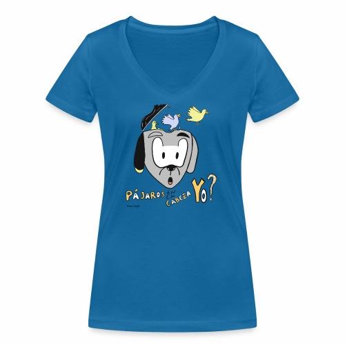 pájaros en a cabeza - Camiseta ecológica mujer con cuello de pico de Stanley & Stella