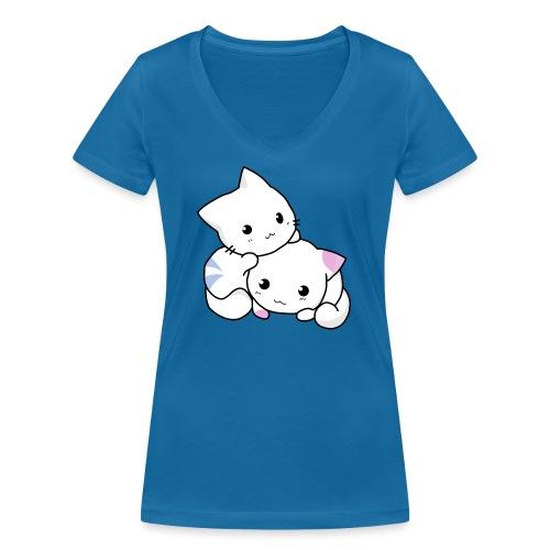 sweet cats - Frauen Bio-T-Shirt mit V-Ausschnitt von Stanley & Stella
