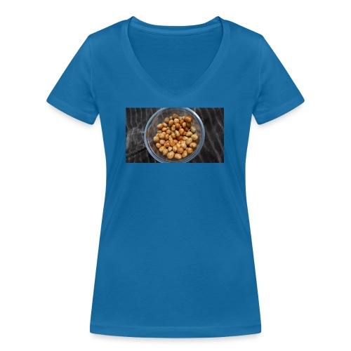 Cacahuate - Camiseta ecológica mujer con cuello de pico de Stanley & Stella