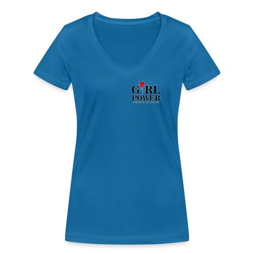 Girl power - T-shirt ecologica da donna con scollo a V di Stanley & Stella