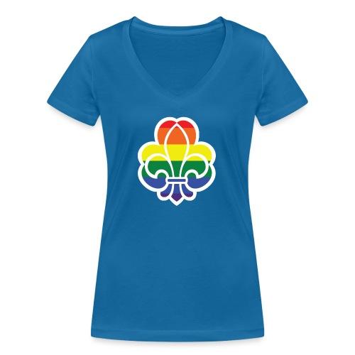 Regnbuespejder jakker og t-shirts mv - Økologisk Stanley & Stella T-shirt med V-udskæring til damer