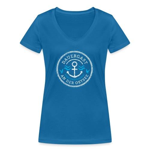 Ich bin Dauergast an der Ostsee - Frauen Bio-T-Shirt mit V-Ausschnitt von Stanley & Stella