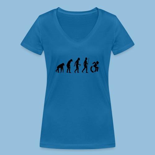 EvolutionWheelchair2 - Vrouwen bio T-shirt met V-hals van Stanley & Stella