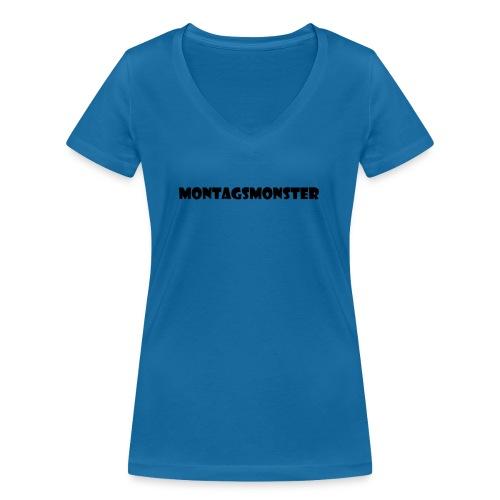 Montagsmonster - Frauen Bio-T-Shirt mit V-Ausschnitt von Stanley & Stella