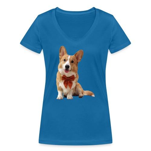 Bowtie Topi - Women's Organic V-Neck T-Shirt by Stanley & Stella