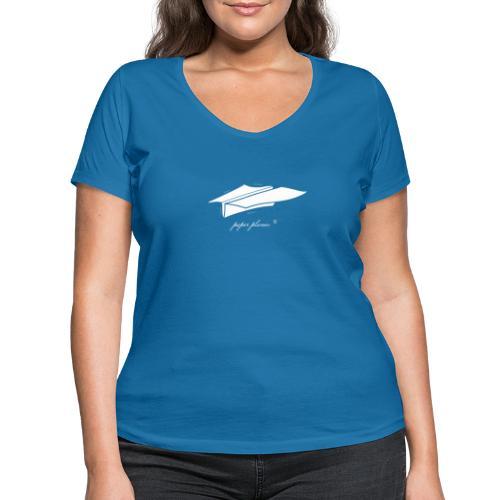 Paper Planes Blueprint - Vrouwen bio T-shirt met V-hals van Stanley & Stella