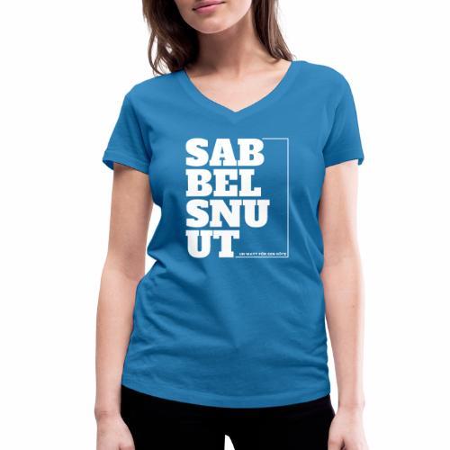Sabbelsnuut - un watt för een söte - Frauen Bio-T-Shirt mit V-Ausschnitt von Stanley & Stella