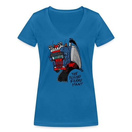 The flying skane man - Vrouwen bio T-shirt met V-hals van Stanley & Stella