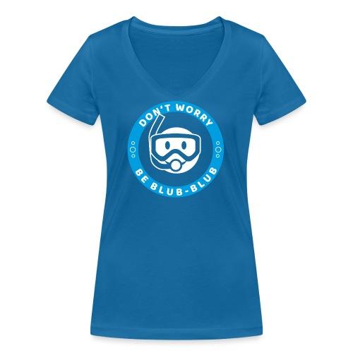 Happy Diver (Text) - Frauen Bio-T-Shirt mit V-Ausschnitt von Stanley & Stella