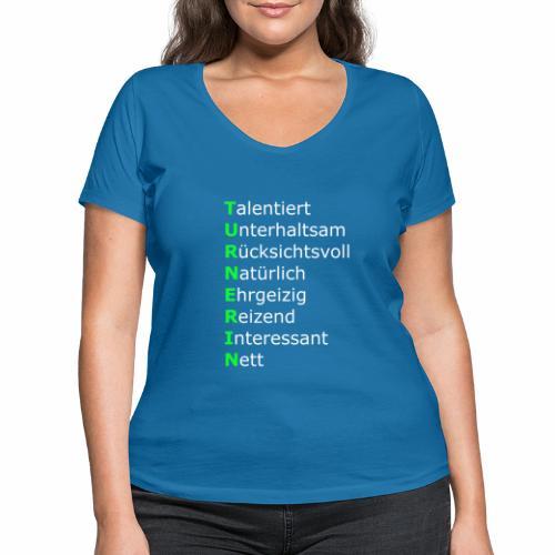 Turnerin - Frauen Bio-T-Shirt mit V-Ausschnitt von Stanley & Stella
