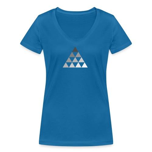 TRIANGLE FADE - T-shirt ecologica da donna con scollo a V di Stanley & Stella