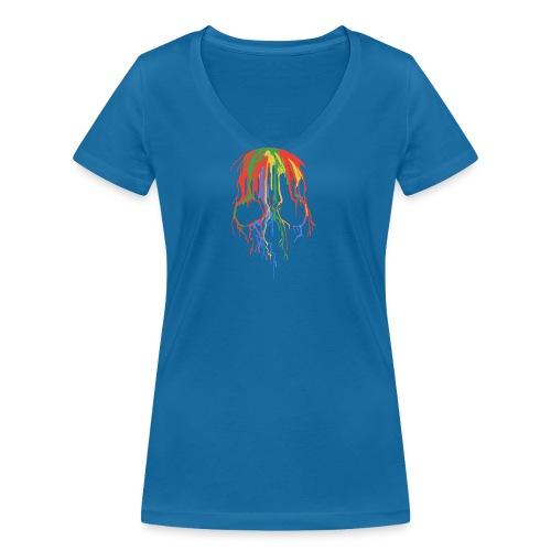 Skull and Colours - Camiseta ecológica mujer con cuello de pico de Stanley & Stella