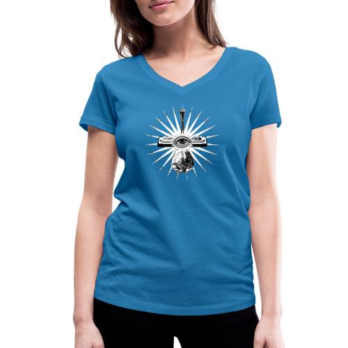 Blues Is The Truth - white star - Women's Organic V-Neck T-Shirt by Stanley & Stella