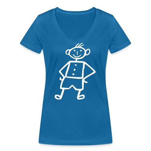 me-white - Frauen Bio-T-Shirt mit V-Ausschnitt von Stanley & Stella