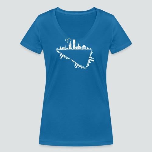 Heimatstadt png - Frauen Bio-T-Shirt mit V-Ausschnitt von Stanley & Stella