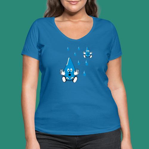 Tropfen - Frauen Bio-T-Shirt mit V-Ausschnitt von Stanley & Stella