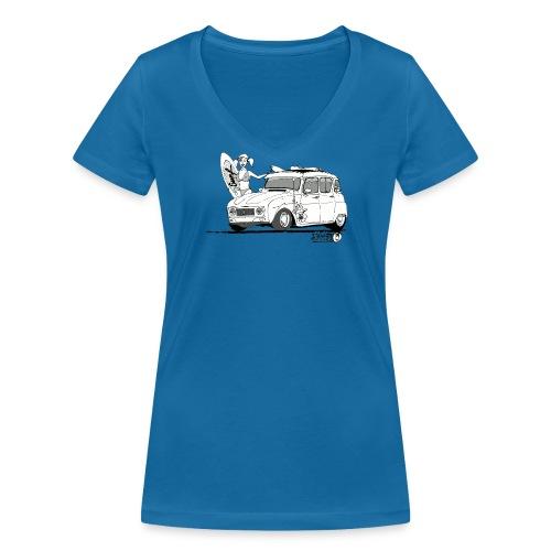 4L Surf - T-shirt bio col V Stanley & Stella Femme