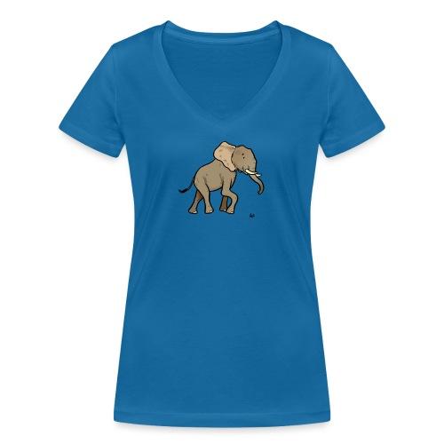 Elefante africano - T-shirt ecologica da donna con scollo a V di Stanley & Stella