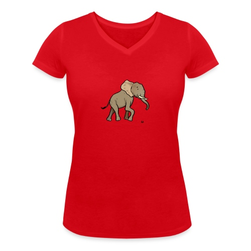 African Elephant - Frauen Bio-T-Shirt mit V-Ausschnitt von Stanley & Stella