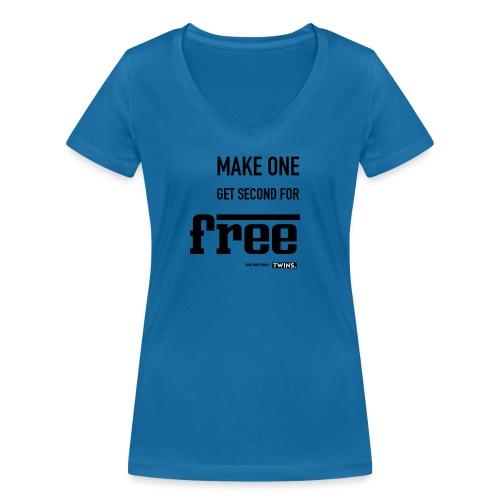 TWINS. make one get second for free - Frauen Bio-T-Shirt mit V-Ausschnitt von Stanley & Stella