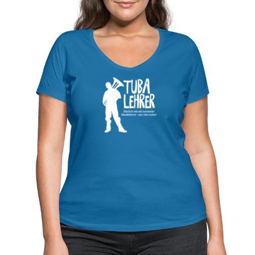 Tuba Lehrer | Tubist - Frauen Bio-T-Shirt mit V-Ausschnitt von Stanley & Stella