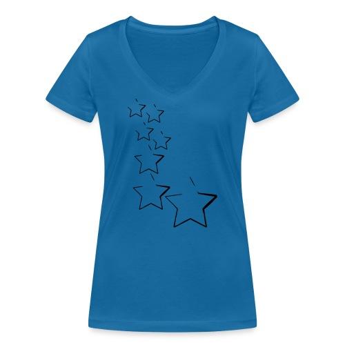 sterne - Frauen Bio-T-Shirt mit V-Ausschnitt von Stanley & Stella